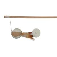 Trixie Spielangel Ball mit Federn, 50 cm