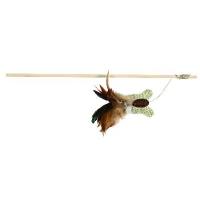 Trixie Spielangel mit Schmetterling und Federn, 45 cm