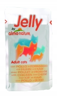 Almo Nature Adult Cats Jelly m. Huhn und Käse 70 g