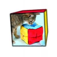 Trixie Plüschwürfel m. 4 Catnip-Bällen 14x14x14 cm