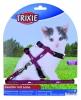 Trixie Kätzchengeschirr mit Leine, Nylon, 21–34 cm/8 mm, 1,20 m