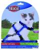 Trixie Kätzchengeschirr mit Leine, Nylon, 19–31 cm/8 mm, 1,20 m